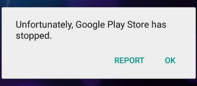 Google Play Store Crashing