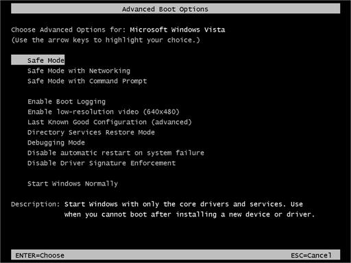 Windows Safe Mode Option